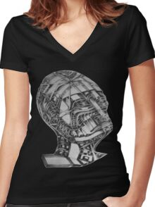 PRIEST Women's Fitted V-Neck T-Shirt