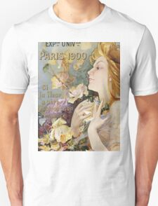 Unknown - Grand Prix Poster. Woman portrait: sensual woman,  attractive,  beautiful ,  brunette ,  cheerful,  glad ,  happy,  head and shoulders,  hugging,  pleasing,  pleasure Unisex T-Shirt
