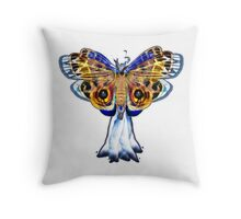 White Fire Flame Marble Throw Pillow