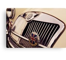 mg car, british flag Canvas Print