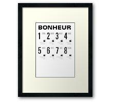 Bonheur - Typography Framed Print