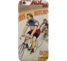 Unknown - La Francaise Diamant Poster. People portrait: man, bicycle ,  bicycling ,  cycle,  cycling,  enjoy,  free time,  fun,  hobbies,  hobby,  holiday iPhone Case/Skin