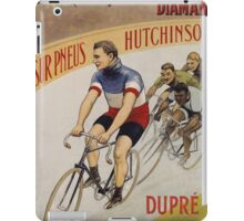 Unknown - La Francaise Diamant Poster. People portrait: man, bicycle ,  bicycling ,  cycle,  cycling,  enjoy,  free time,  fun,  hobbies,  hobby,  holiday iPad Case/Skin