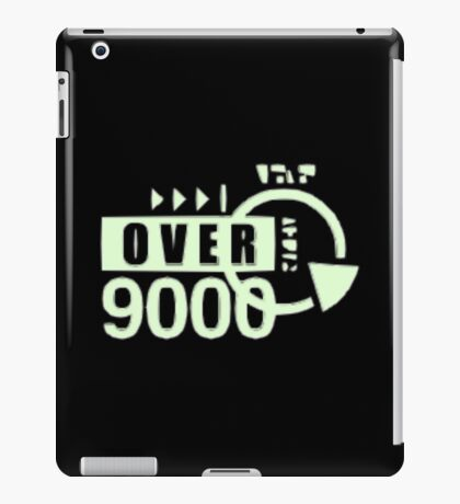 dragonball z over 9000 iPad Case/Skin