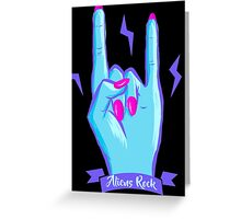 Aliens Rock Greeting Card