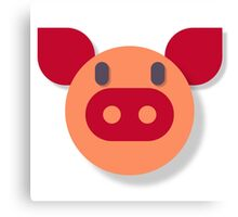 The Most Pure Pig Canvas Print