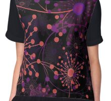Seamless floral pattern with cute cartoon flowers print background Chiffon Top