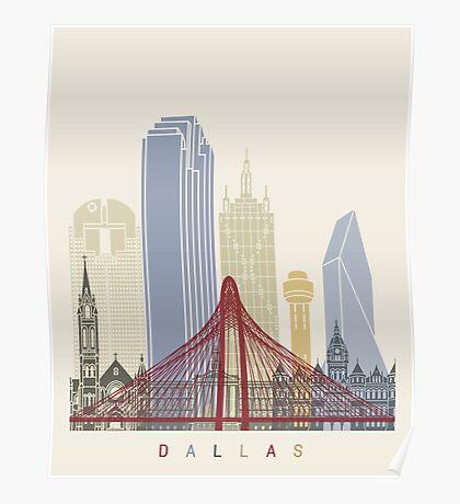 Dallas skyline poster Poster