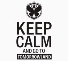 Keep Calm and go to Tomorrowland - Black One Piece - Short Sleeve