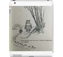 Winnie the pooh quote iPad Case/Skin