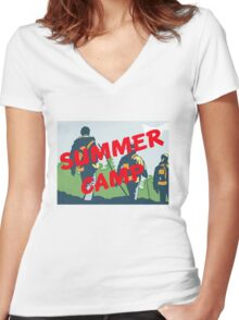 Summer Camp #5 Women's Fitted V-Neck T-Shirt