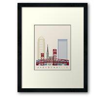 Jacksonville skyline poster Framed Print
