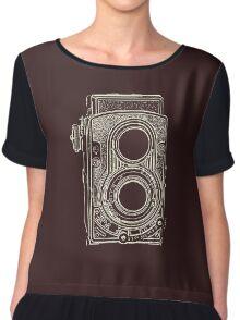 Vintage Retro Camera Chiffon Top