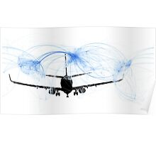 World airline routes Poster