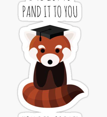 A Red Panda Graduation Sticker