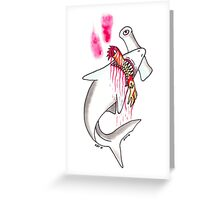 SHARK ATTACK Greeting Card