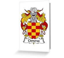 Cisneros Coat of Arms/Family Crest Greeting Card