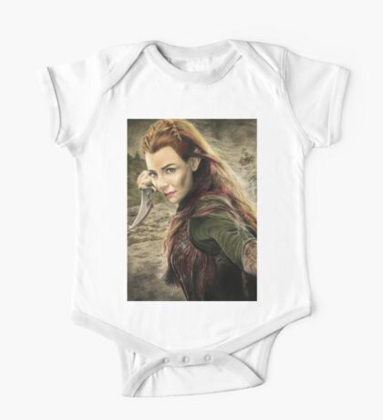 Tauriel Portrait- The Hobbit, Desolation of Smaug One Piece - Short Sleeve