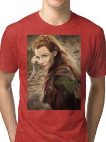 Tauriel Portrait- The Hobbit, Desolation of Smaug Tri-blend T-Shirt