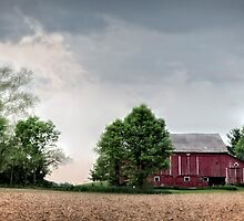 A Red Barn  by LarryB007