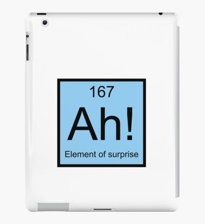 Ah! Element Of Surprise iPad Case/Skin