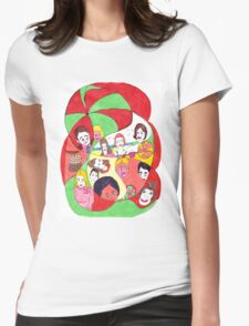 Beach Ball Faces Womens Fitted T-Shirt