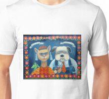 Frida Katlo and Dogago Rivera Unisex T-Shirt