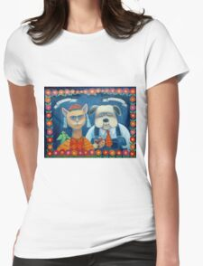 Frida Katlo and Dogago Rivera Womens Fitted T-Shirt