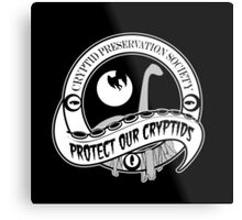 Cryptid Preservation Society Metal Print