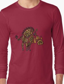 Cool Funky Warthog Abstract Art Long Sleeve T-Shirt