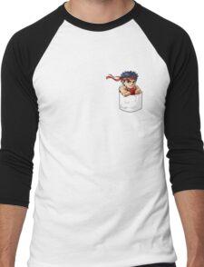 Pocket Ryu Men's Baseball ¾ T-Shirt