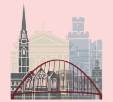 Newcastle skyline poster Kids Tee