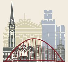 Newcastle skyline poster by paulrommer