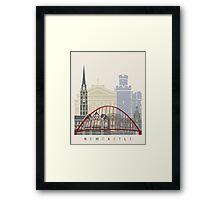 Newcastle skyline poster Framed Print