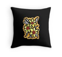 daffodils x gold Throw Pillow