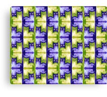 Cattern in purple and green Canvas Print