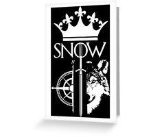 King of the North - GoT Greeting Card