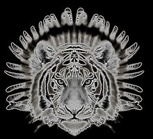 Tribal Tiger by UneartheDesigns