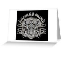 Tribal Tiger Greeting Card