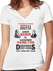 Burr Vs Hamilton Women's Fitted V-Neck T-Shirt