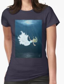 Drowning Womens Fitted T-Shirt