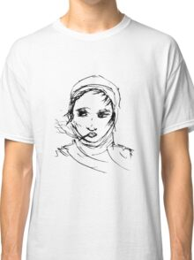 Smoking with headscarf Classic T-Shirt