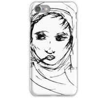 Smoking with headscarf iPhone Case/Skin