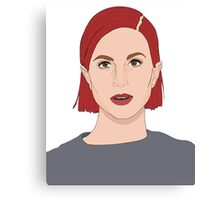 Paramore Hayley Digital Art Canvas Print