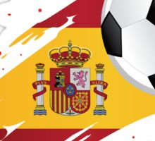 Spanish Soccer Flag Sticker