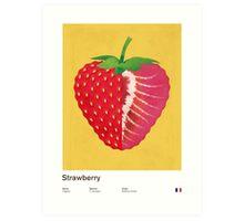 Strawberry (yellow) - Natural History Fruits Art Print