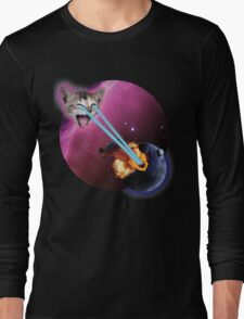 Laser Kitten, Destroyer of Planets Long Sleeve T-Shirt