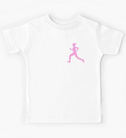 Happy Running Girl Pattern Kids Tee