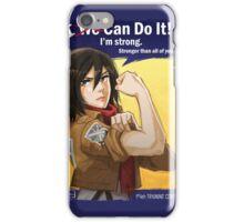 Mikasa: I Can Do It! iPhone Case/Skin