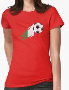 Italian Soccer Flag Womens Fitted T-Shirt